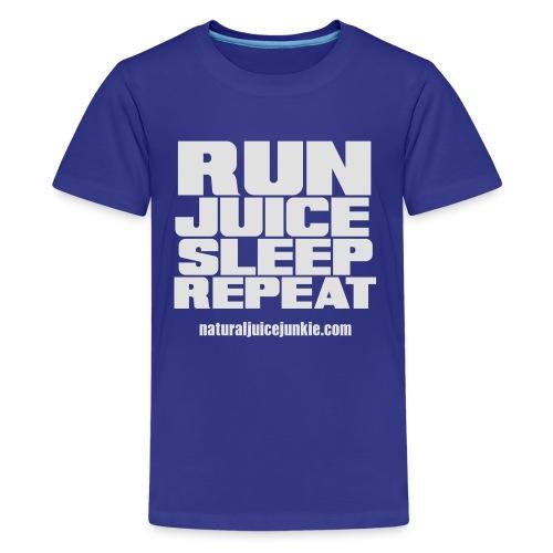 Mens Run Juice Sleep Repeat - Teenage Premium T-Shirt