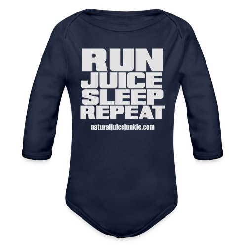 Mens Run Juice Sleep Repeat - Organic Longsleeve Baby Bodysuit