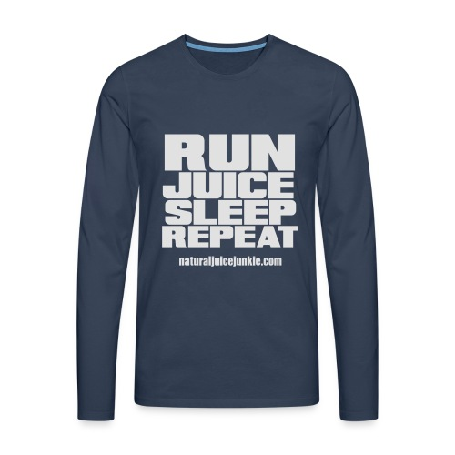 Mens Run Juice Sleep Repeat - Men's Premium Longsleeve Shirt