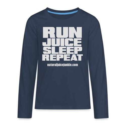 Mens Run Juice Sleep Repeat - Teenagers' Premium Longsleeve Shirt