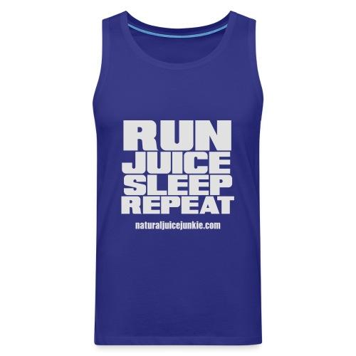 Mens Run Juice Sleep Repeat - Men's Premium Tank Top