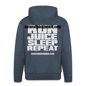 Mens Run Juice Sleep Repeat - Men's Premium Hooded Jacket