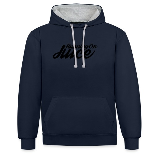 Womens Running on Juice - Contrast Colour Hoodie