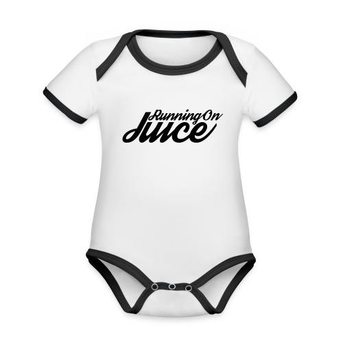 Womens Running on Juice - Organic Baby Contrasting Bodysuit