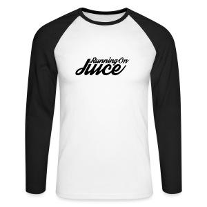 Womens Running on Juice - Men's Long Sleeve Baseball T-Shirt