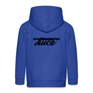 Womens Running on Juice - Kids' Premium Zip Hoodie