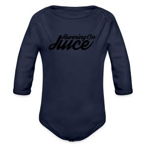 Womens Running on Juice - Organic Longsleeve Baby Bodysuit