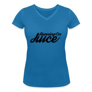 Womens Running on Juice - Women's Organic V-Neck T-Shirt by Stanley & Stella