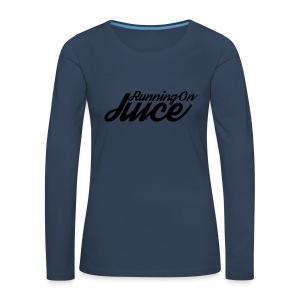 Womens Running on Juice - Women's Premium Longsleeve Shirt