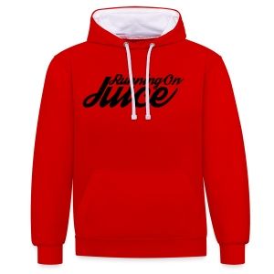 Mens Running on Juice - Contrast Colour Hoodie