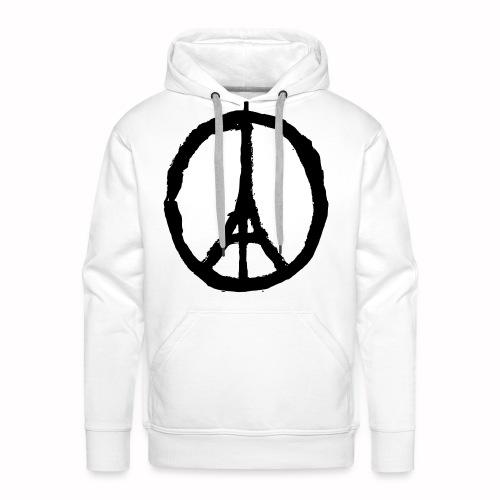 T-Shirt Blanc Homme Paris Peace - Sweat-shirt à capuche Premium pour hommes