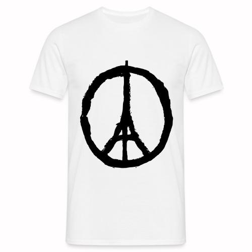 T-Shirt Blanc Homme Paris Peace - T-shirt Homme