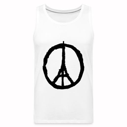 T-Shirt Blanc Homme Paris Peace - Débardeur Premium Homme