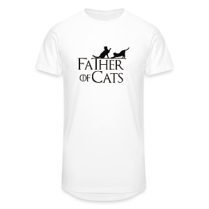 Camiseta blanca Father of cats - Camiseta urbana para hombre