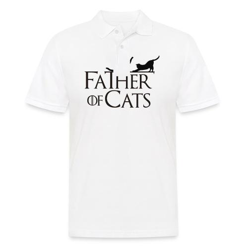 Camiseta blanca Father of cats - Polo hombre