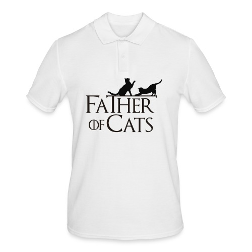 Camiseta blanca Father of cats - Polo hombre