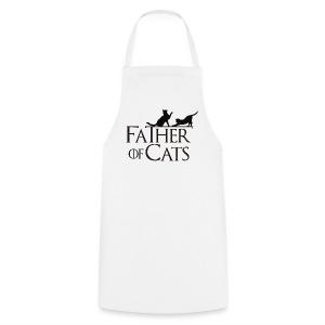 Camiseta blanca Father of cats - Delantal de cocina