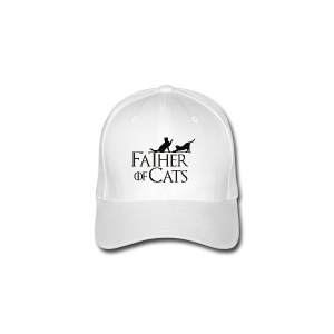 Camiseta blanca Father of cats - Gorra de béisbol Flexfit