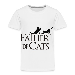 Camiseta blanca Father of cats - Camiseta premium niño