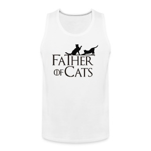 Camiseta blanca Father of cats - Tank top premium hombre