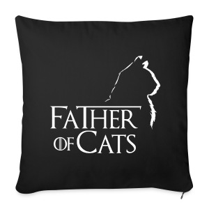 Camiseta negra Father of cats - Funda de cojín, 44 x 44 cm