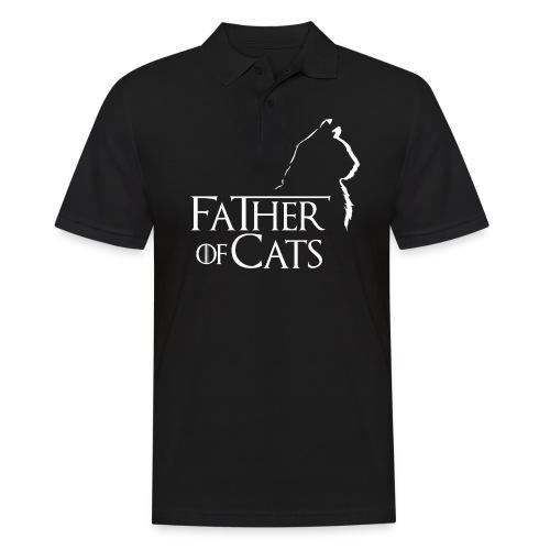 Camiseta negra Father of cats - Polo hombre