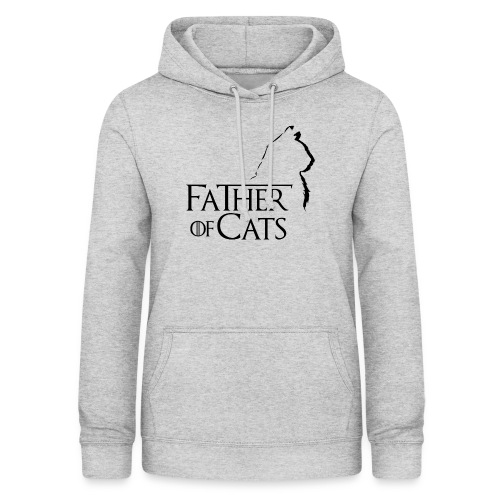 Camiseta blanca Father of cats - Sudadera con capucha para mujer