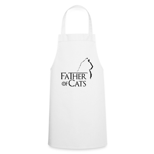 Camiseta blanca Father of cats - Delantal de cocina
