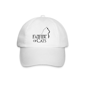 Camiseta blanca Father of cats - Gorra béisbol