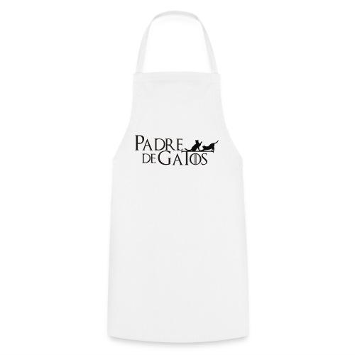 Camiseta blanca Padre de Gatos - Delantal de cocina