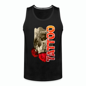 SKULL TATTOO Men's T-Shirt - Men's Premium Tank Top