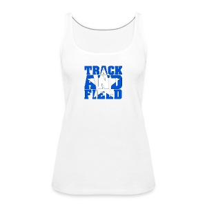 Sport Shirt Woman Track And Field USA - Frauen Premium Tank Top