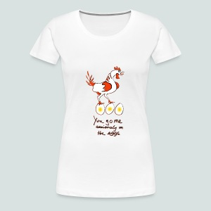 On the eggs  - Frauen Premium T-Shirt