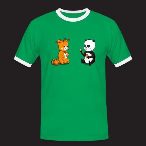 Pandas - T-shirt contrasté Homme
