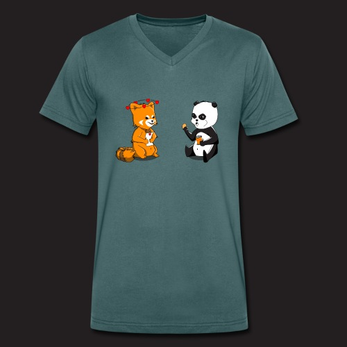 Pandas - T-shirt bio col V Stanley & Stella Homme