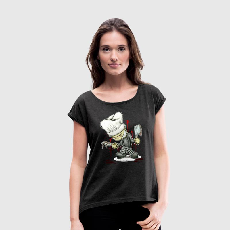 Kleiner Koch T-Shirts - Women's T-shirt with rolled up sleeves