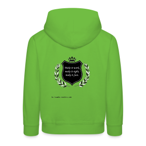 Make it work, make it right, make it fast (Black) - Kids' Premium Hoodie