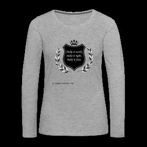 Make it work, make it right, make it fast (Black) - Women's Premium Longsleeve Shirt