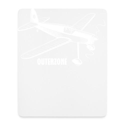 Outerzone t-shirt, white logo - Mouse Pad (vertical)