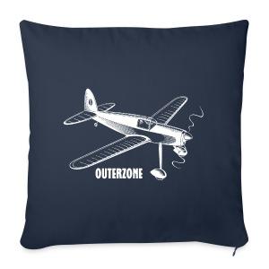 Outerzone t-shirt, white logo - Sofa pillow cover 44 x 44 cm