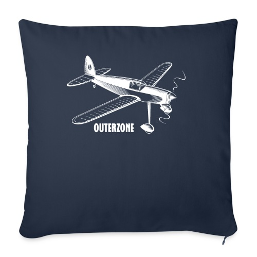 Outerzone t-shirt, white logo - Sofa pillow cover 44 x 44 cm
