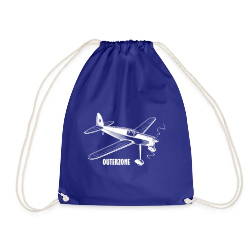 Outerzone t-shirt, white logo - Drawstring Bag