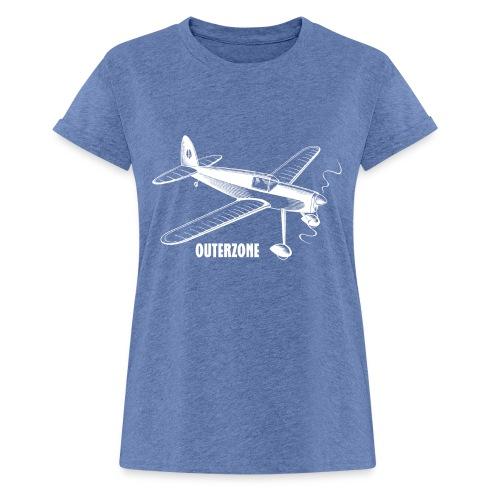 Outerzone t-shirt, white logo - Women's Oversize T-Shirt