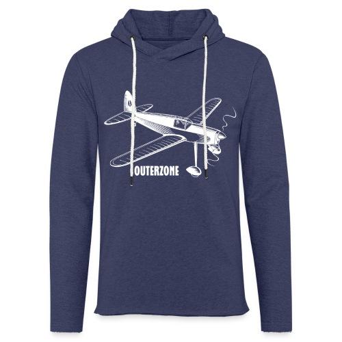 Outerzone t-shirt, white logo - Light Unisex Sweatshirt Hoodie