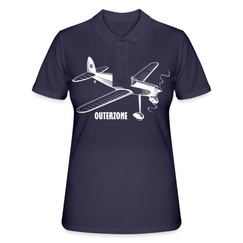 Outerzone t-shirt, white logo - Women's Polo Shirt