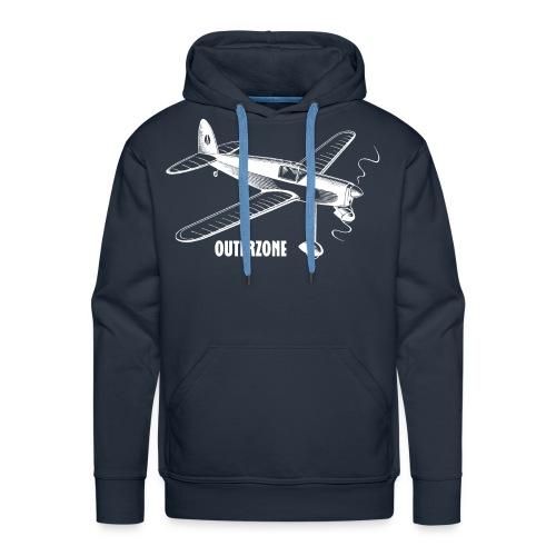 Outerzone t-shirt, white logo - Men's Premium Hoodie
