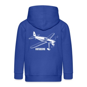 Outerzone t-shirt, white logo - Kids' Premium Zip Hoodie