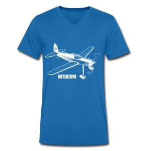Outerzone t-shirt, white logo - Men's Organic V-Neck T-Shirt by Stanley & Stella