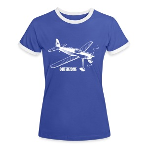 Outerzone t-shirt, white logo - Women's Ringer T-Shirt