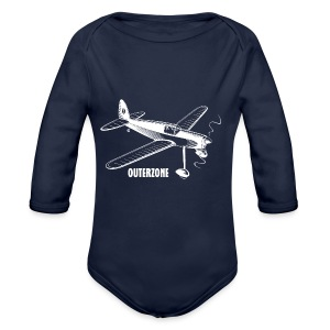 Outerzone t-shirt, white logo - Baby One-piece